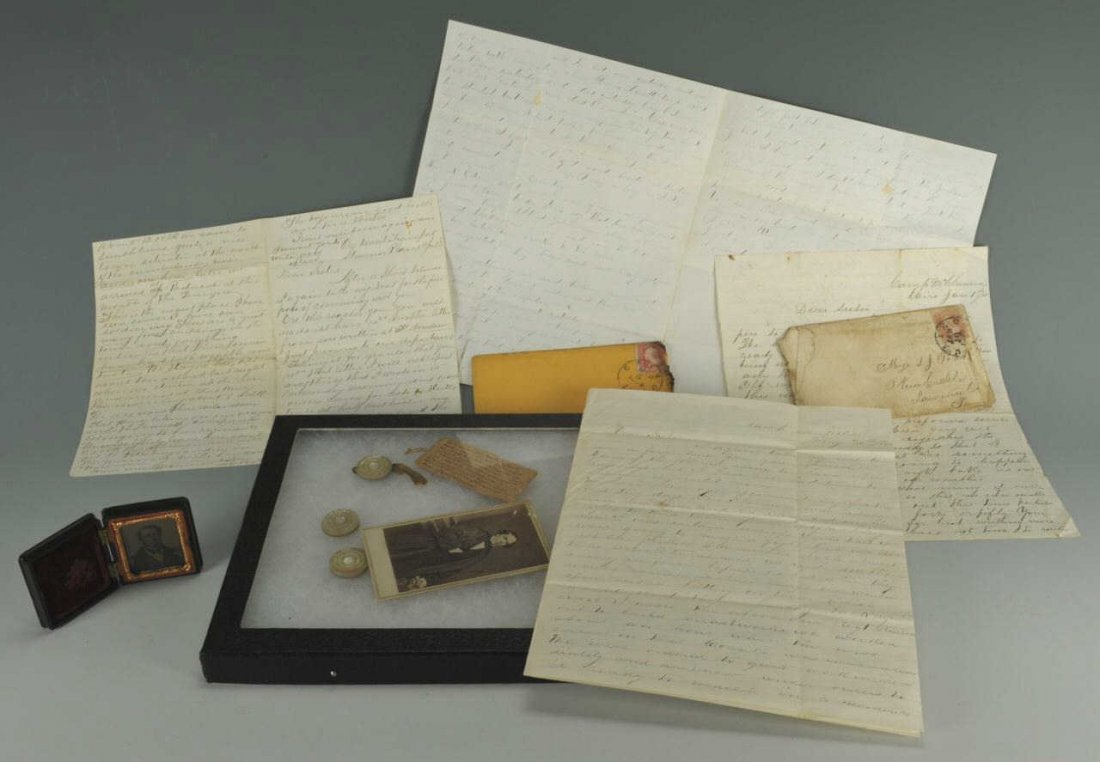 Battle of Fort Donelson related letter archive, relics