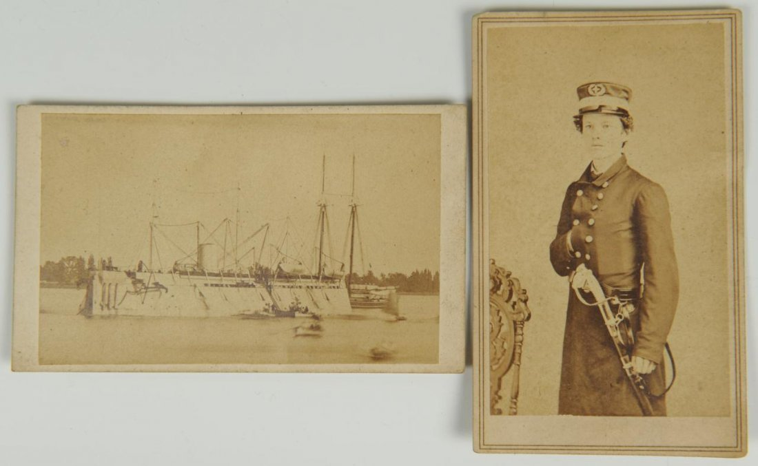 Civil War Union Naval CDV of USS New Ironsides and offi