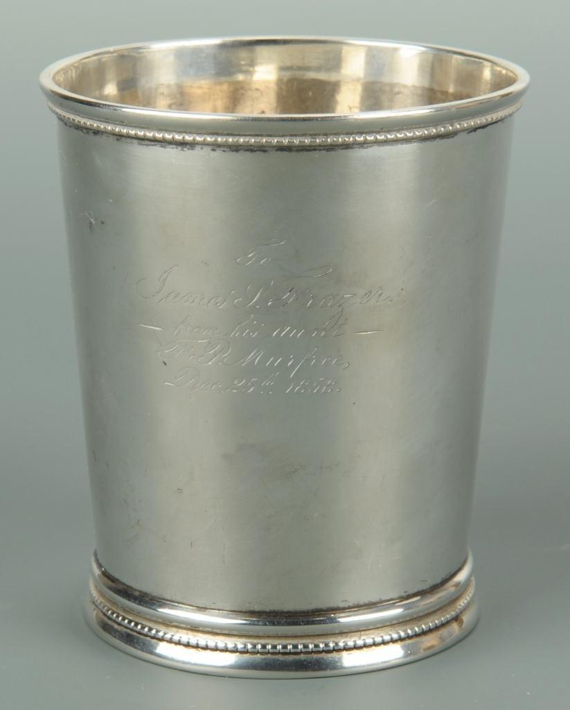 Tennessee Coin Silver Julep Cup, W. H. Calhoun
