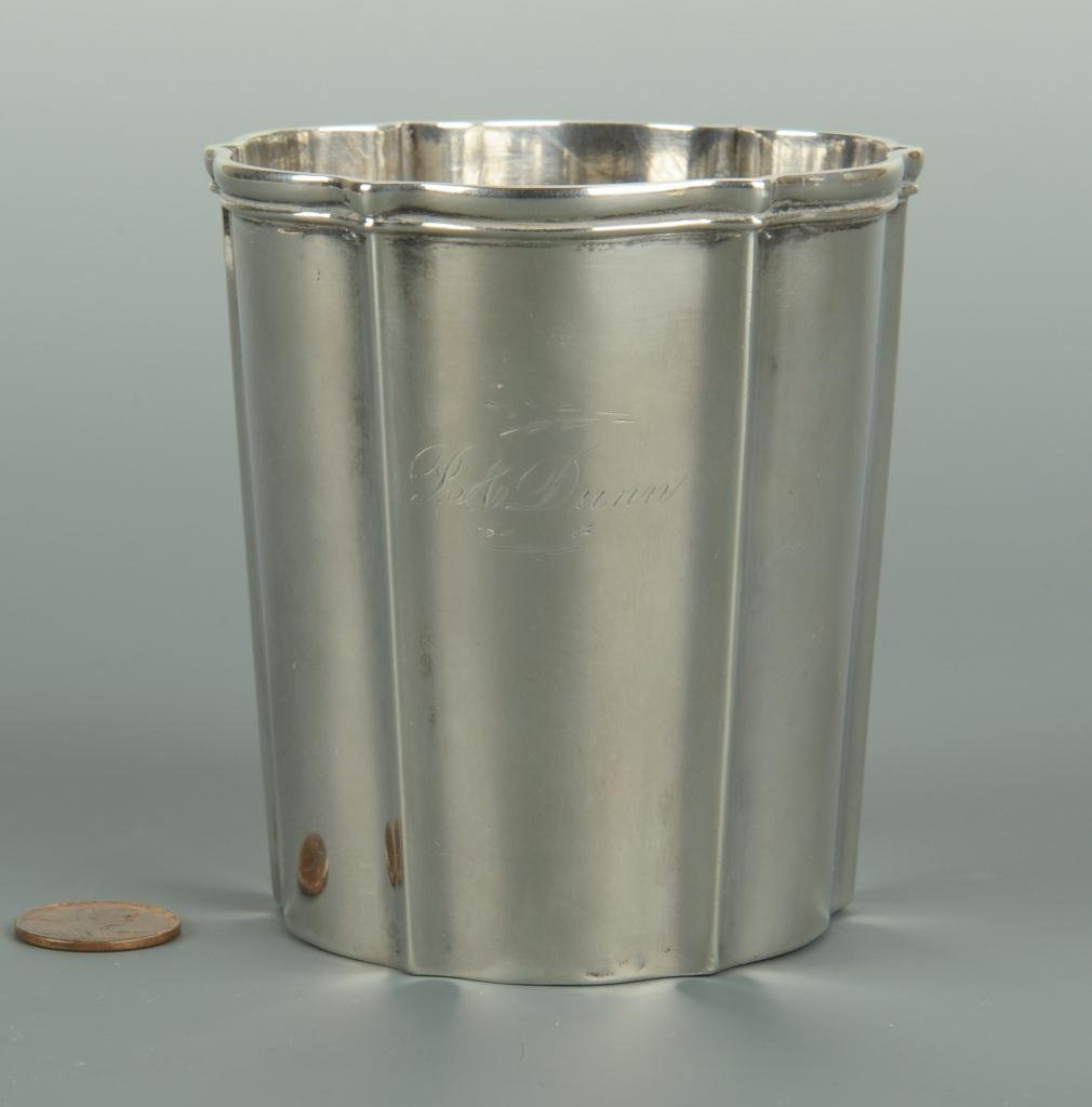 Rococo style silver cup or beaker