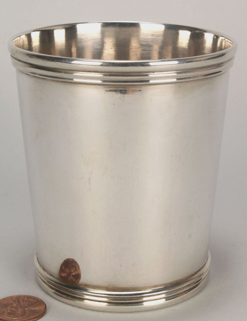 E & D Kinsey coin silver julep cup