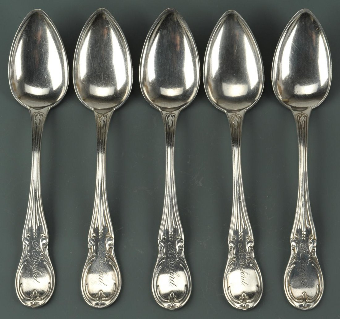 5 KY Coin Silver Spoons by P. Poindexter