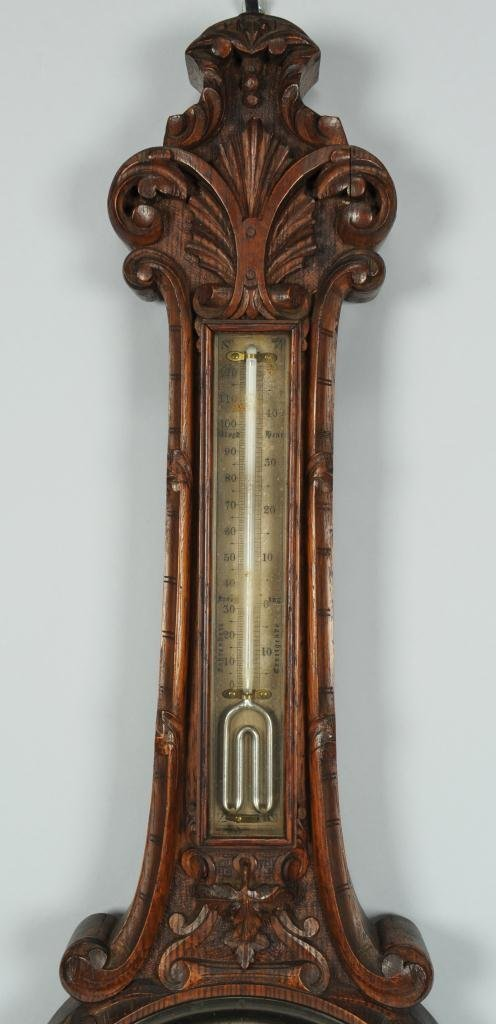 J. Hicks London Aneroid Barometer Thermometer - 4