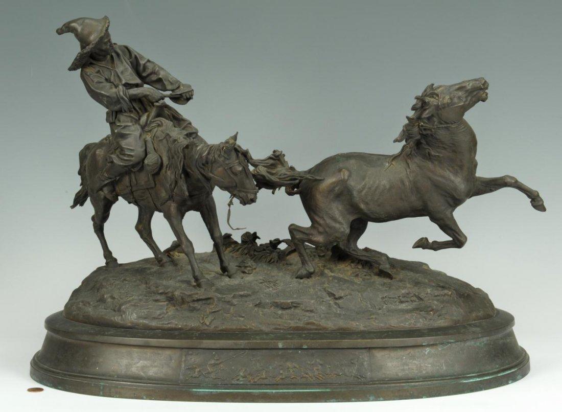E.A. Lanceray Bronze, Capture of a Wild Horse