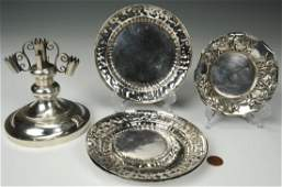 Grouping of Asian Silver Table Items, 6 total