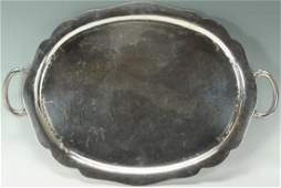 Mexican Sterling Silver Serving Tray 93 oz
