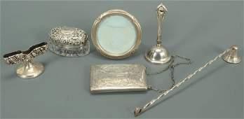6 sterling silver decorative novelty items