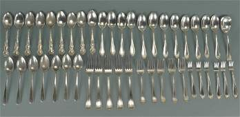 Assorted sterling forks and spoons 45 pcs
