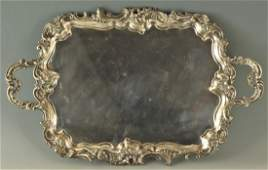 Large Victorian Silver plated Tray, Walker & Hall