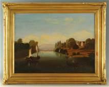 Hudson River School Oil on Canvas