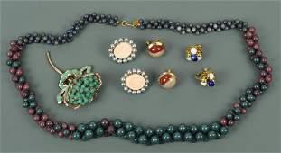 Costume jewelry lot M Haskell  N Rosenstein