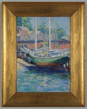 Impressionist MA Harbor Scene, Unsigned