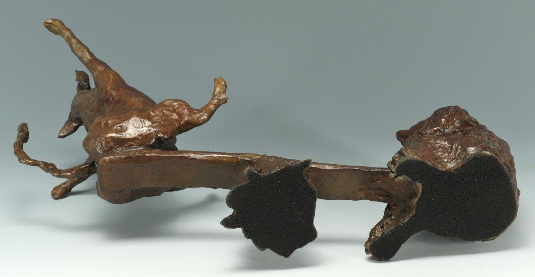 35: Susan Read Cronin Bull & Bear Bronze Sculpture - 4