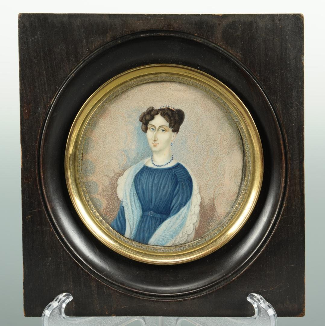 39: Miniature Portrait on Ivory of a Lady