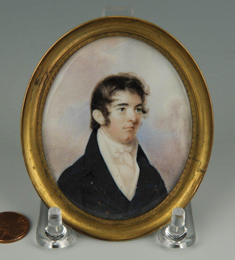 41: 19th cent. Portrait Miniature of Dr. David Wharry