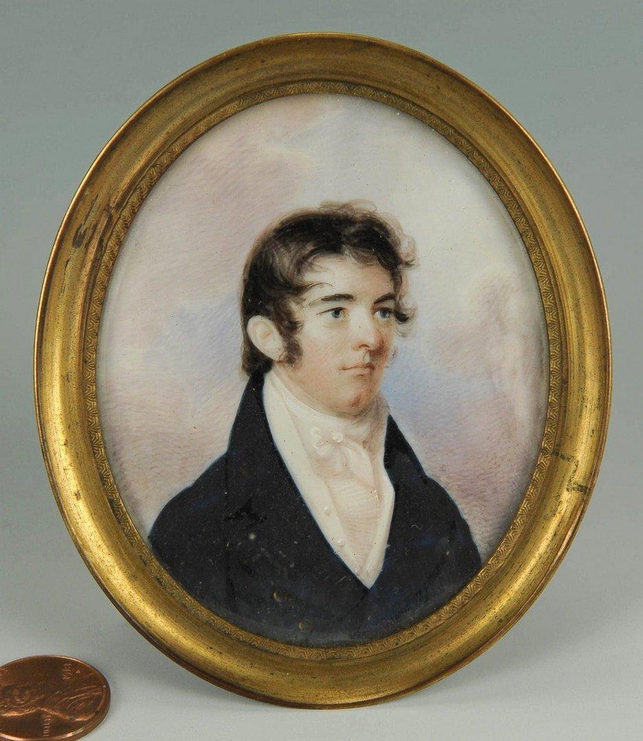 41: 19th cent. Portrait Miniature of Dr. David Wharry - 3