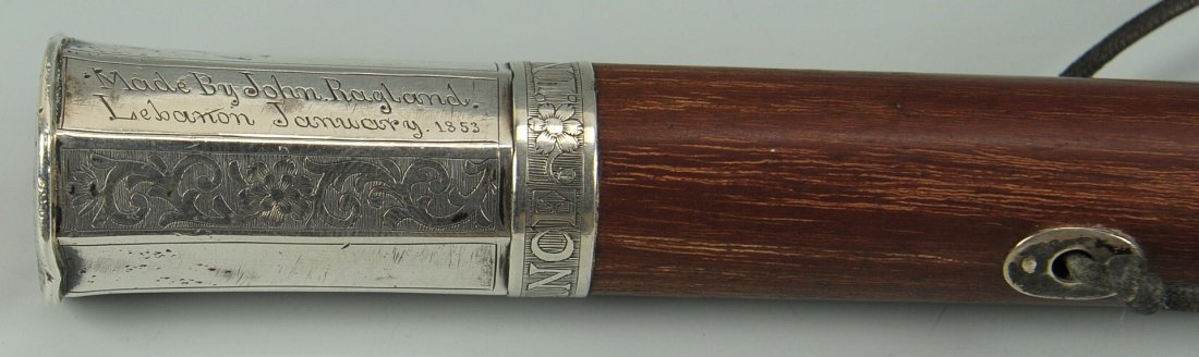 43: Tennessee Coin Silver handled Walking Stick