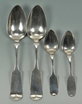 4 Hope & Miller Knoxville Coin Spoons