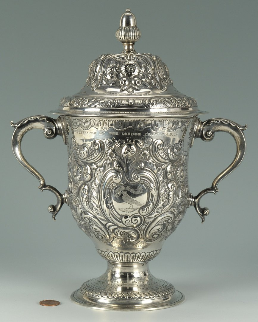 """56: T.D. Rice """"Jim Crow"""" Silver Presentation Cup"""