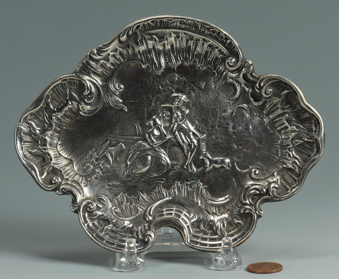 58: Tiffany and Co. Rococo Style Silver Card Tray