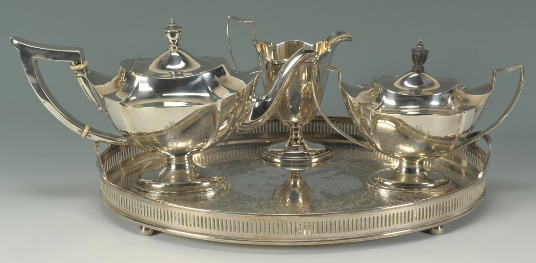 59: Gorham Plymouth Sterling Tea Service