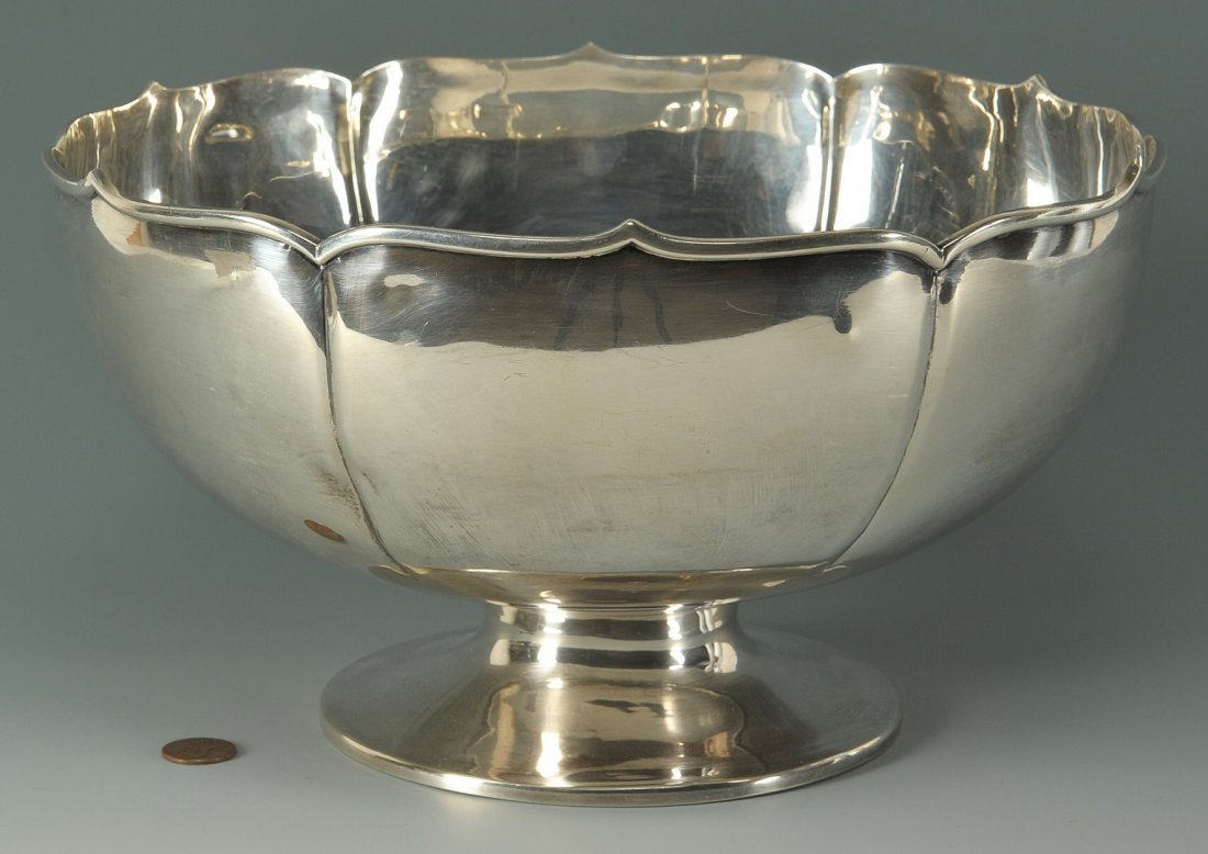 65: 950 Sterling Silver Centerpiece Bowl