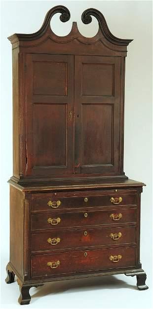 106: Virginia Frye-Martin school Bookcase on Bureau