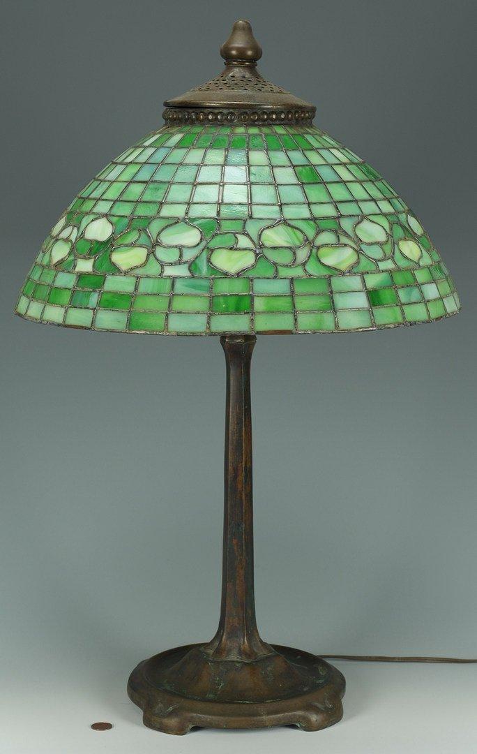 127: Tiffany Studios Acorn Bronze Lamp