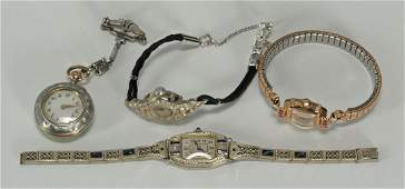 219: Group of Ladies Watches incl pendant watch
