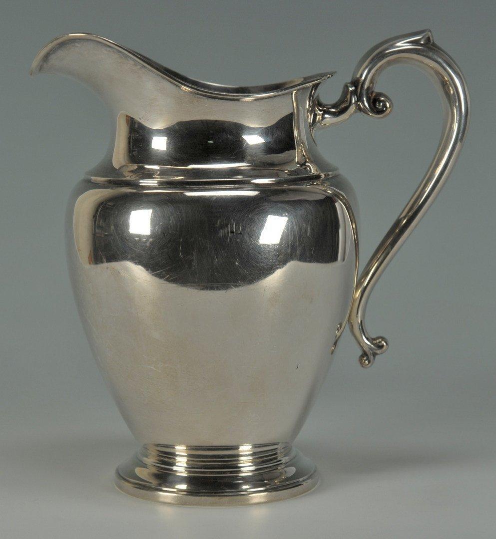 232: Preisner Sterling Silver Water Pitcher - 2