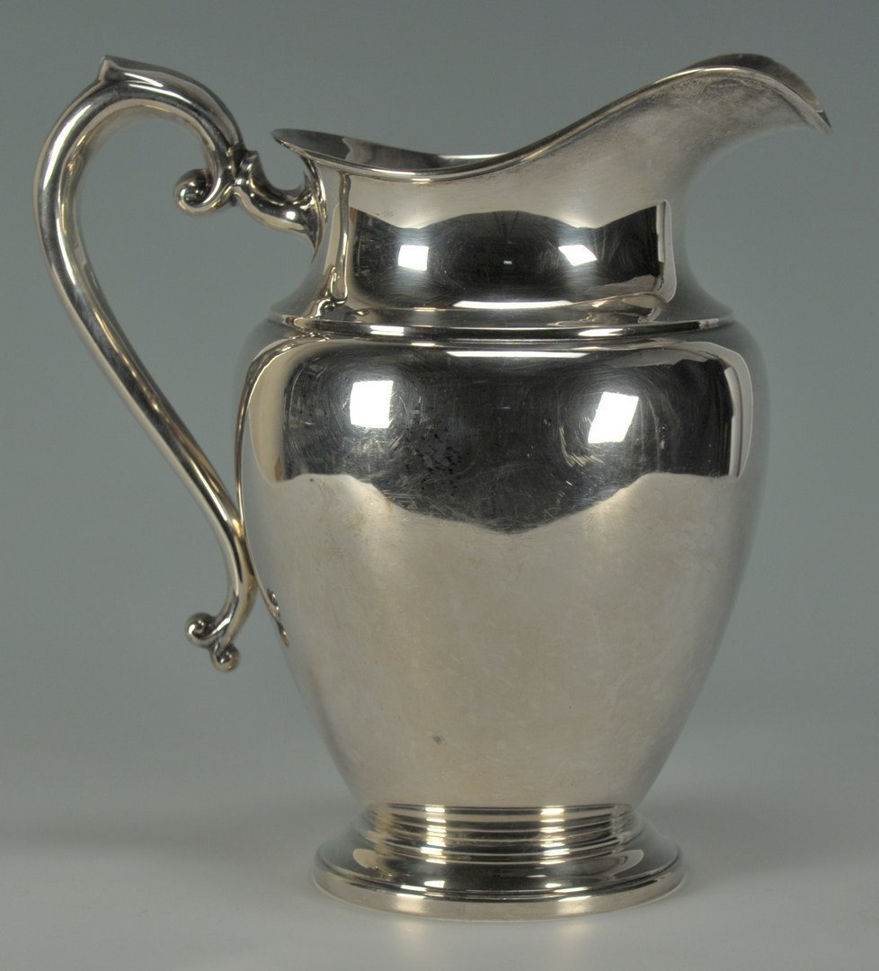 232: Preisner Sterling Silver Water Pitcher - 3