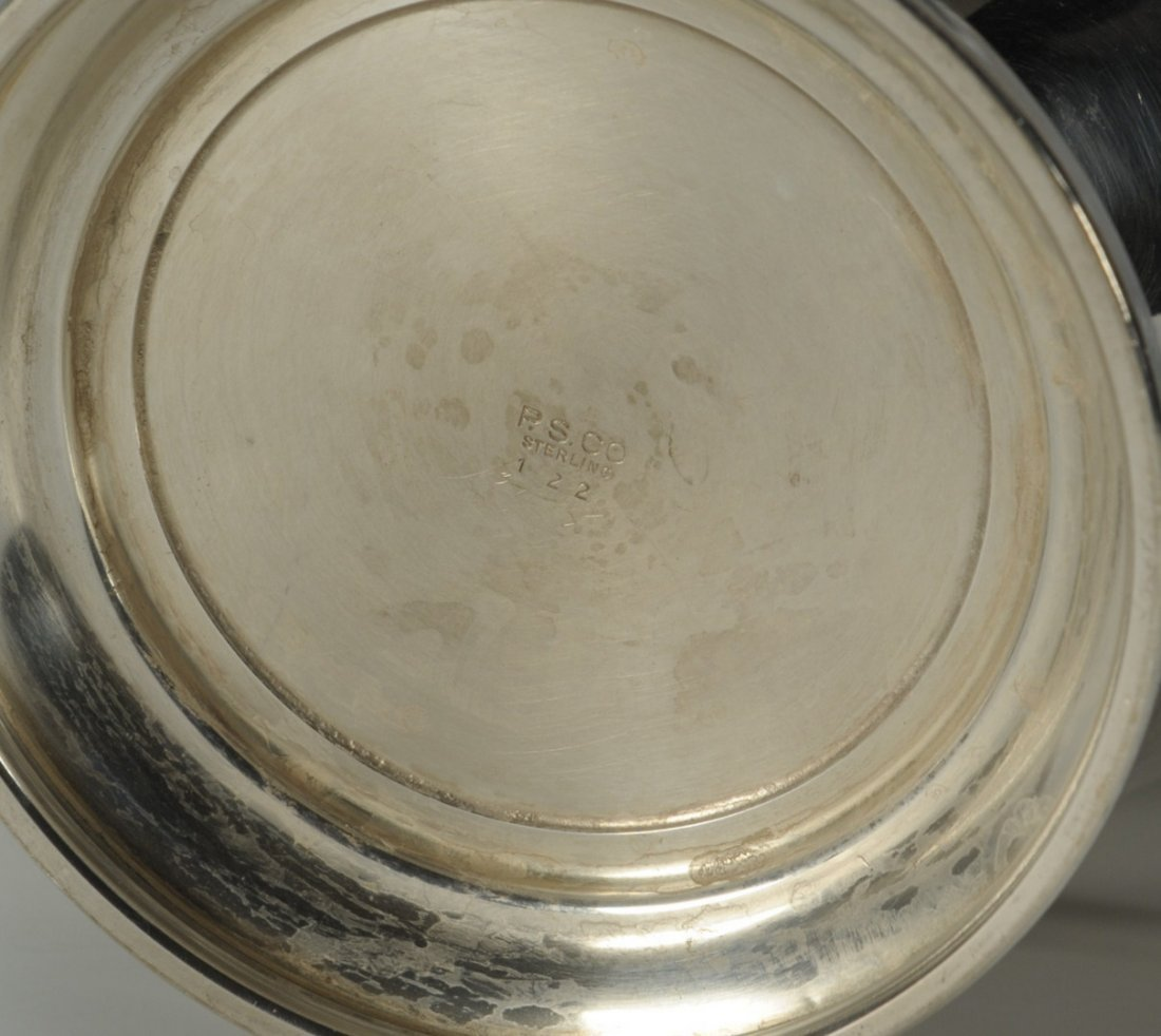 232: Preisner Sterling Silver Water Pitcher - 6