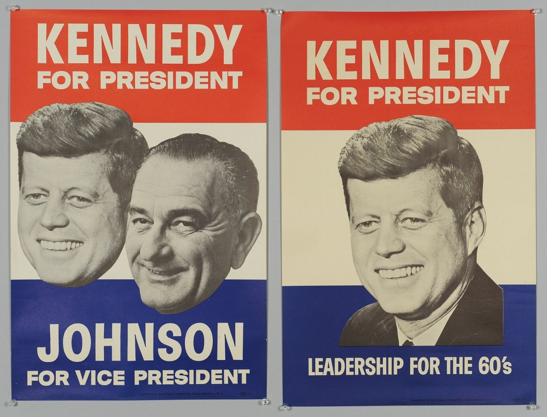 259: Two 1960 John F. Kennedy Campaign Posters