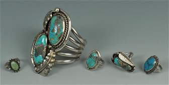 386: Group of Southwestern Turquoise jewelry