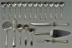 504 20 Pieces Sterling Silver Flatware inc soup spoon