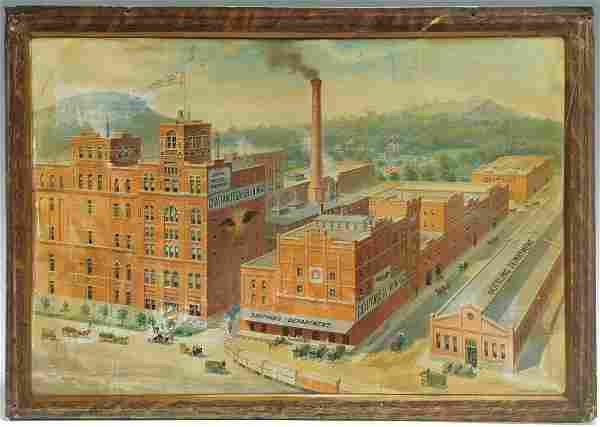 Chattanooga Brewing Company Ad Sign on Tin