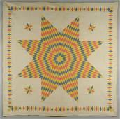 585 East TN Star of Bethlehem Quilt w Diamond Border