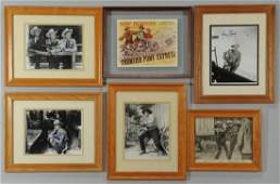 601: Signed Hollywood Western Photographs