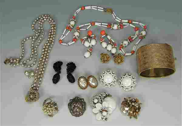 610: Vintage Assorted Miriam Haskell Jewelry
