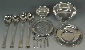 630: Group of Sterling & Plated Table Items, 11 pcs