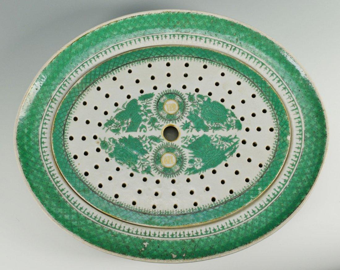 22: Chinese Export Green Fitzhugh Mazarine