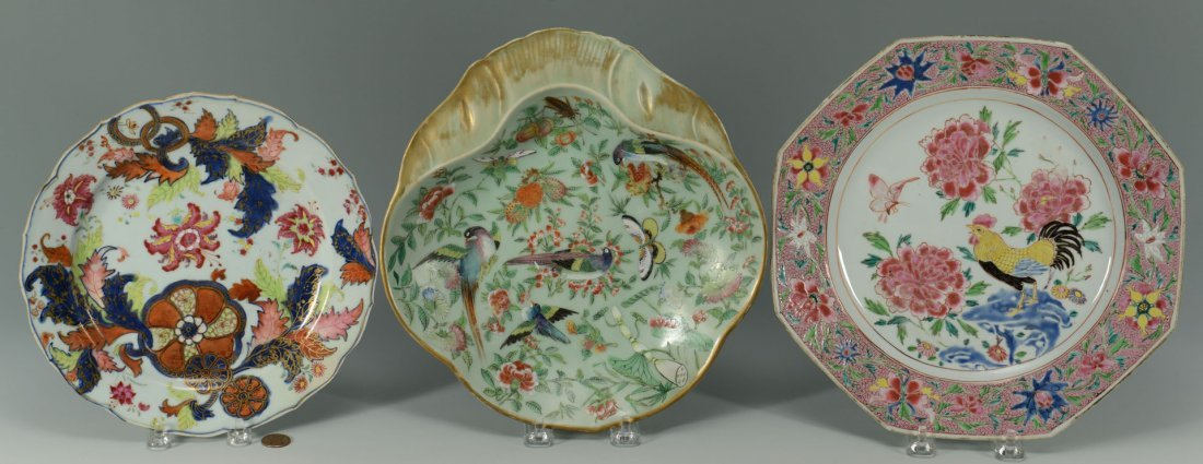23: Grouping of 3 Chinese Porcelain Plates
