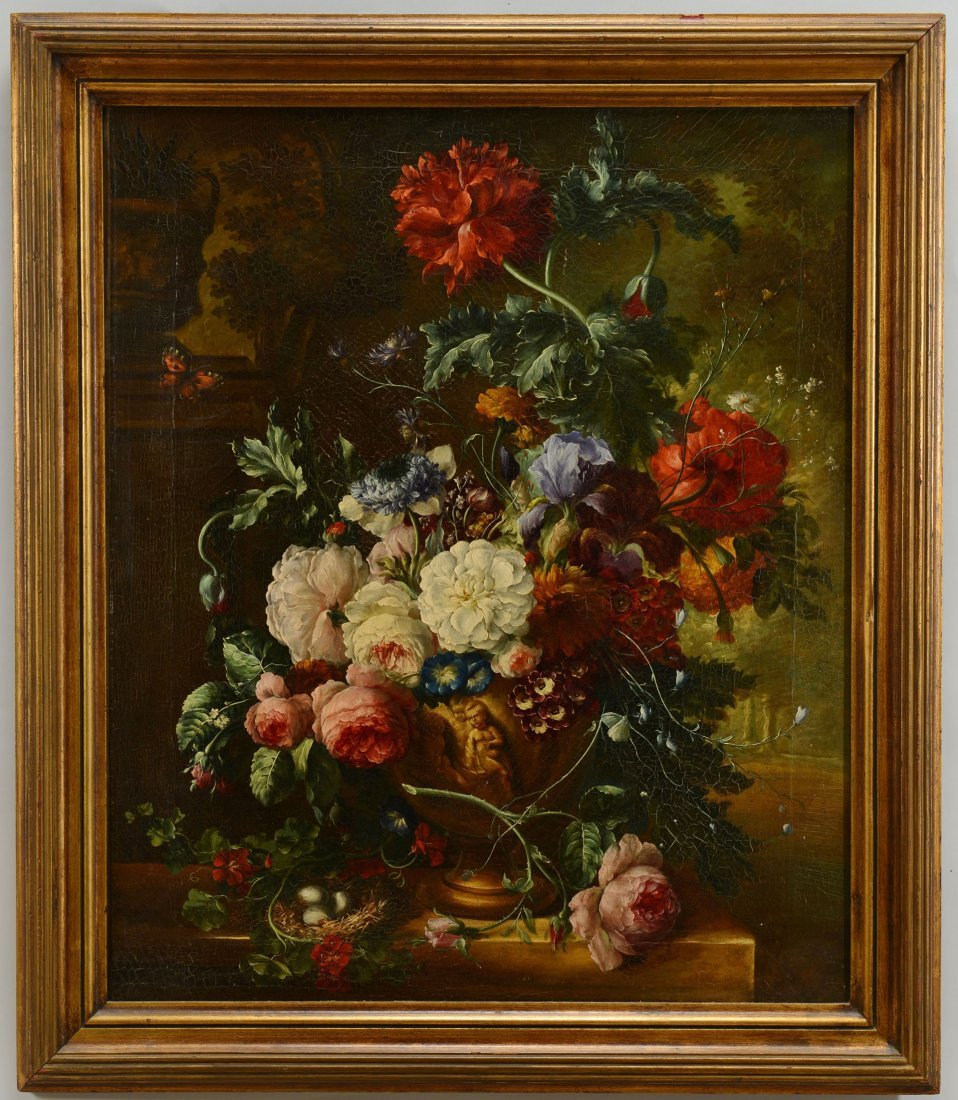 35: Dutch School Still Life Painting, oil on c