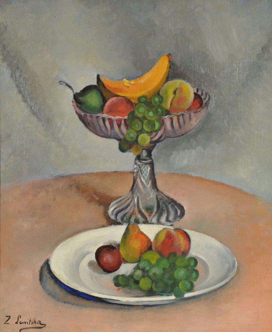 36: Sonia Lewitska Oil on Canvas Still Life