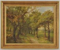 39 John Holding 19th c oil on canvas landscape