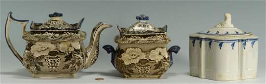 265: Early English porcelain incl. pearlware caddy