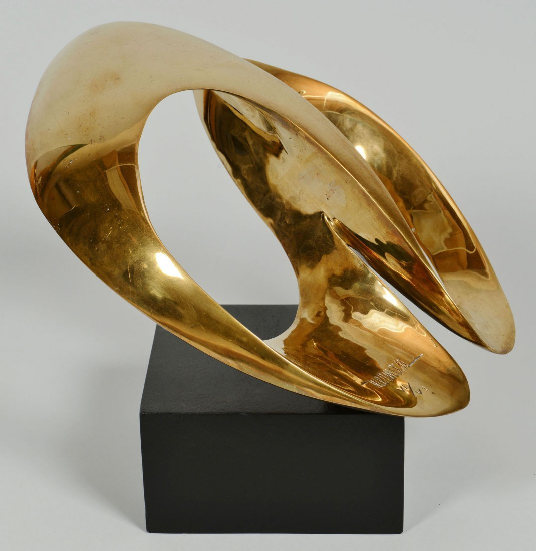 412: Leonardo Nierman Abstract Bronze Sculpture