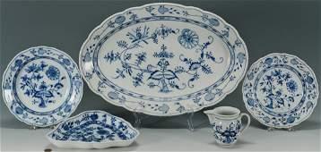 432 4 Meissen Blue Onion Porcelain Items  1 other