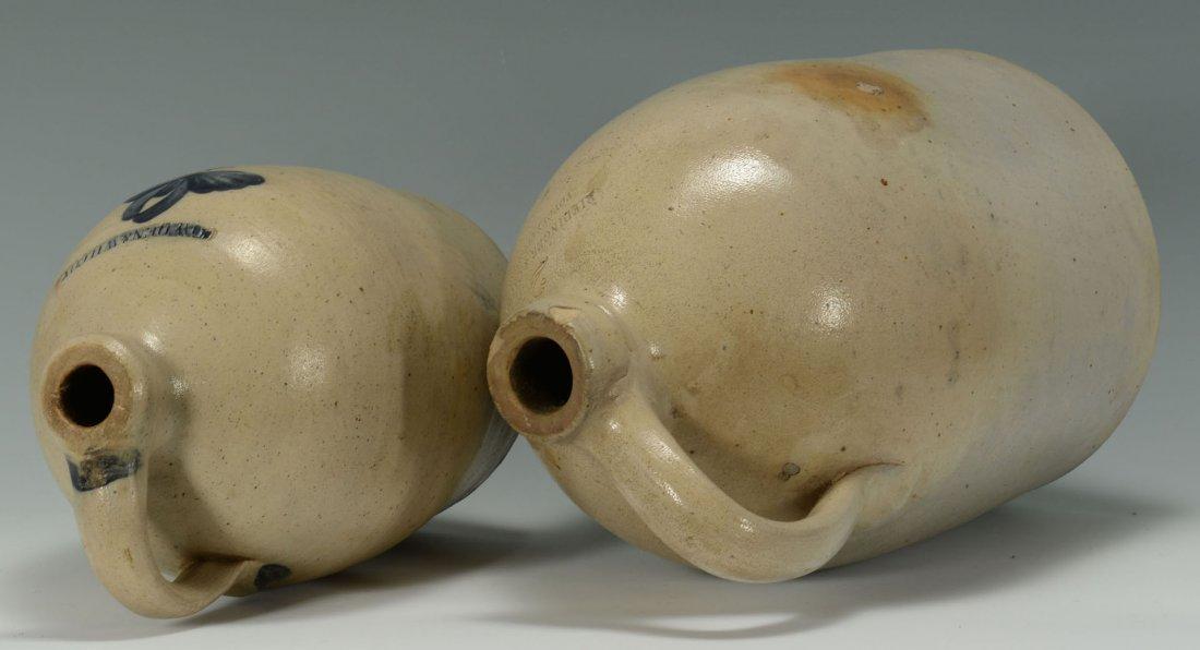 456: 2 Cobalt Decorated Stoneware Jugs, New England - 5