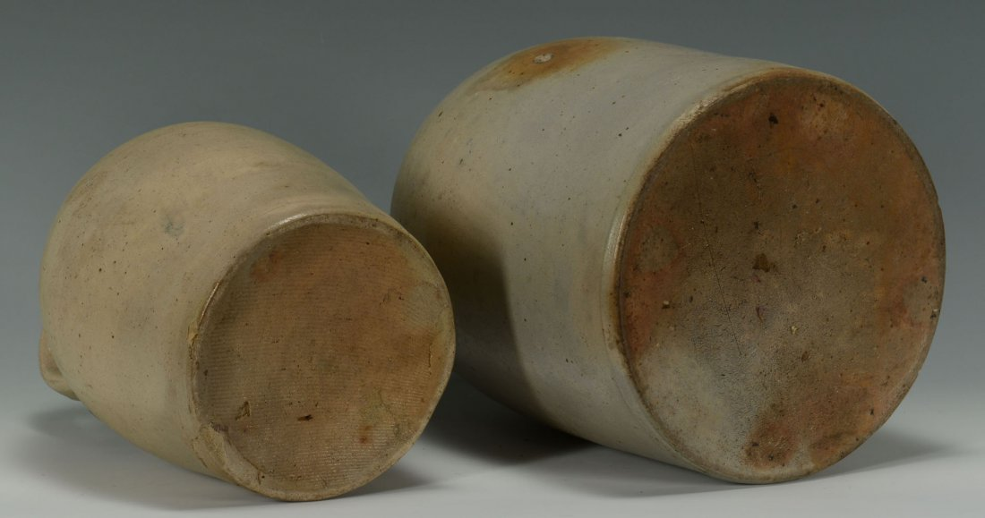 456: 2 Cobalt Decorated Stoneware Jugs, New England - 6